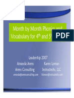 month by month phonics