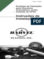 Fire Sprinkler Installation Instructions Portugues