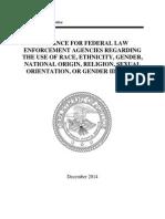 DOJ GUIDANCE FOR FEDERAL LAW ENFORCEMENT AGENCIES