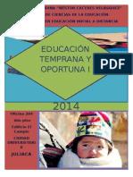 Educación Temprana y Oportuna II