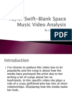 Taylor Swift-Blank Space Music Video Analysis
