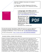 Barton 2001 Directions for Literacy Research