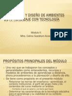 MODULO II. Planeación y Diseño de Ambientes de Apendizaje Con Tecnologìa Educativa