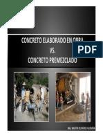 concreto Elaborado en Obra vs Premezclado