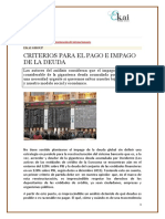 EKAI Center en NAIZ. CRITERIOS PARA EL PAGO E IMPAGO DE LA DEUDA
