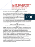 43 Decisión 291 de La Comunidad Andina Sobre El Regimen Comun de Tratamiento a Los Capitales Extranjeros y Sobre Marcas, Patentes, Licencias y Regalias