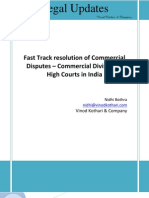 Fast Track Resolutions of Commercial Disputes
