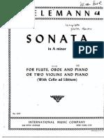 Telemann,G.sonata a m FLObVc International