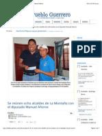 07-12-14 Se Reúnen Ocho Alcaldes de La Montaña Con El Diputado Manuel Añorve