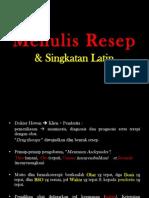 Resep 2 Menulis Resep Dan Singkatan Latin