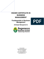 Fundamentals in Business Management - Regenesys Business School