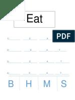 word study eat across