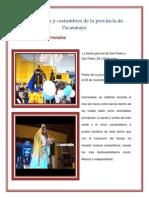 Tradiciones y Costumbres de La Provincia de Pacasmayo