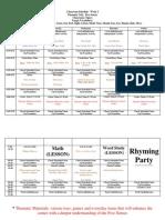 thematic schedule 2 week five senses