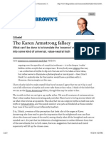 The Karen Armstrong fallacy | Andrew Brown | Comment is free | theguardian.com