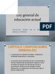 Ley General de Educación Actual Hasta Capitulo I