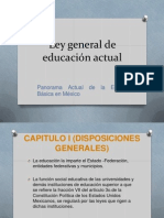 Ley General de Educación Actual Hasta Capitulo I