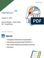 Data ONTAP 8 1 Clustering