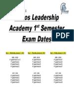 semester exams dates