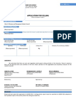 Form a8 Application for Selling- Sbmsc
