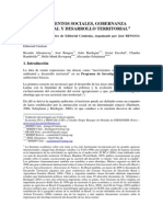 Movimientos Sociales Gobernanza Ambiental Desarrollo Territorial