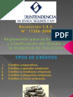 Reglamento Para La Evaluacic3b3n y Clasificacic3b3n Del Deudor y La Exigencia de Provisiones