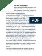 Análisis de la Economía Mexicana desde el 2008 hasta el 2011