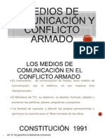 Medios de Comunicación y Conflicto Armado en Colombia