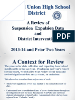 CUHSD 13-14 Suspensions and Expulsions Report