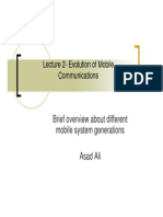Lecture 2 Evolution of Mobile Comms