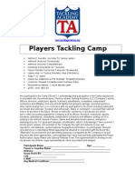 2009 Tackling Camp Flier