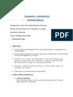 EJEMPLO DE SEMINARIO LIDERAZGO ORGANIZACIONAL