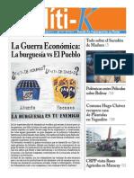 Portada de Políti-K 7º Edición Septiembre 2014