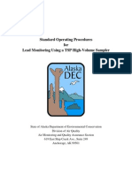 Lead Monitoring TSP-Pb Hi-Vol SOP 6-8-11 Ver1 0