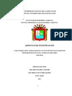Caracterización Agroclimática en Función de Los Elementos