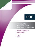 Plan de Estuidos Artes 2011 seleccion de fragmentos