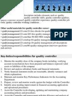 Quality Controller Job Description
