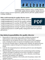 Quality Director Job Description