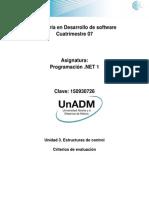 DPRN Criterios de Evaluacion de Actividades U3
