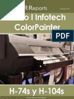 705743 Seiko I Infotech ColorPainter H-74s H-104s Mild-solvent Inkjet Printer Evaluations Tests Reviews ES