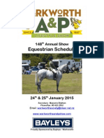 Warkworth A & P Equestrian Schedule 2015