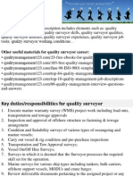 Quality Surveyor Job Description