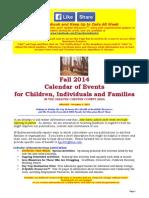 Calendar of Events - December 7, 2014