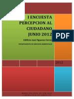 ConSer_Encuesta Percepción Ciudadano Servicios Ambientales 2012