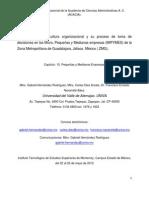 Diagnostico de La Cultura Organizacional en La MIPyMES