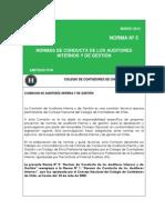 Normas de comportamientos de los auditores internos y de gestión