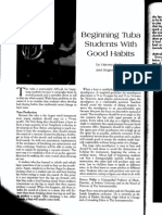 beginning tuba students with good habits