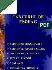 CANCERUL DE ESOFAG