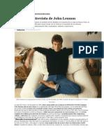 La última entrevista a John Lennon