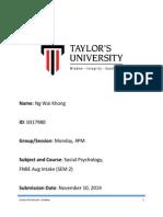 SOCIAL PSYCHOLOGY JOURNAL
